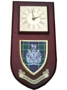 Kings Own Scottish Borderers Regimental Wall Plaque Clock